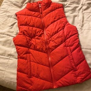 Aeropostale Red Quilted Puffer Vest